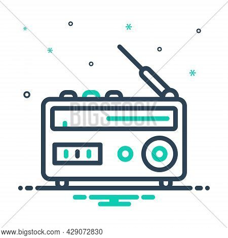 Mix Icon For Radio Antenna Broadcast Advertising  Ancient Pristine Broadcast Technology Journalist C