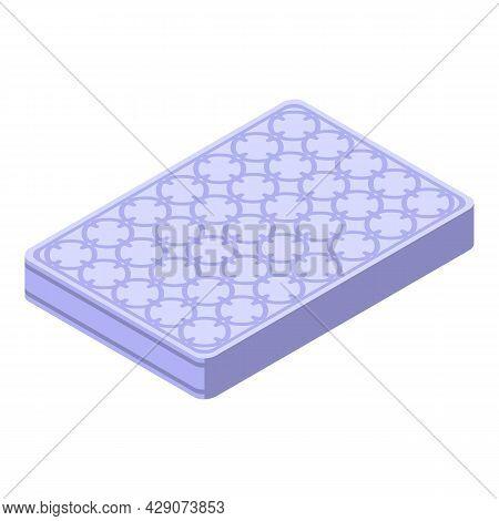 Sleeping Mattress Icon Isometric Vector. Relax Sleep. Night Bed