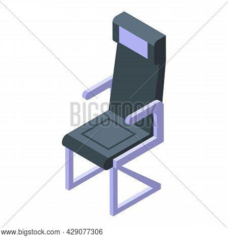 Interior Airplane Seat Icon Isometric Vector. Plane Chair. Aeroplane Cabin