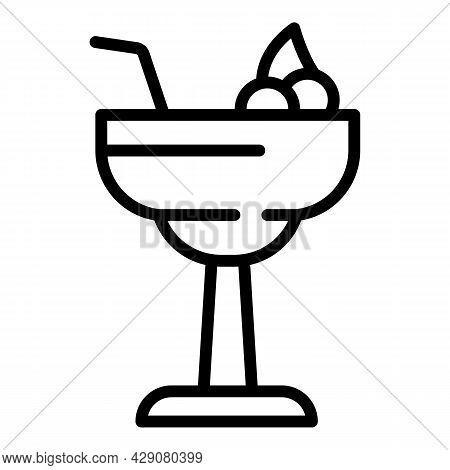Bar Cocktail Icon Outline Vector. Pub Restaurant. Martini Drink