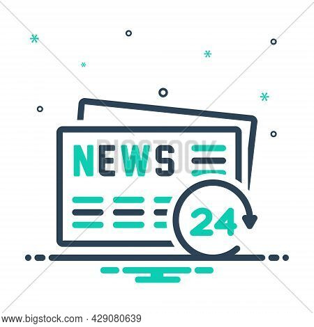 Mix Icon For Daily Quotidian Diurnal Everyday Day-to-day Newspaper News Article Latest