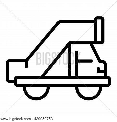 Airplane Stairs Icon Outline Vector. Airport Truck. Aircraft Plane