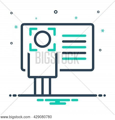 Mix Icon For Identify Info Recognize Advice Instruction Card Enquiry Information Identification