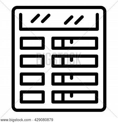 Airport Board Icon Outline Vector. Flip Departure. Flight Panel