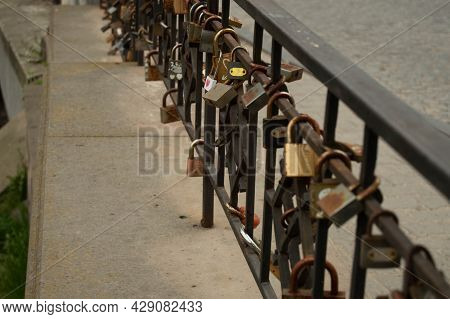 Loyalty Pads On The Fence. Background, Love, Feeling, Love, Fidelity, Pad, Fence
