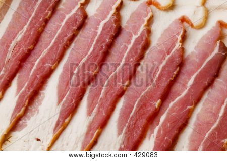Uncooked Bacon