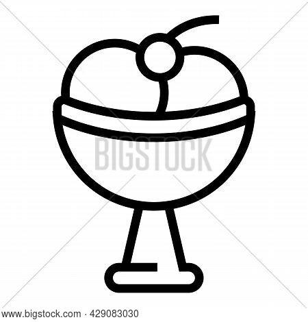 Gelato Treat Icon Outline Vector. Lolly Ice Cream. Cold Gelato