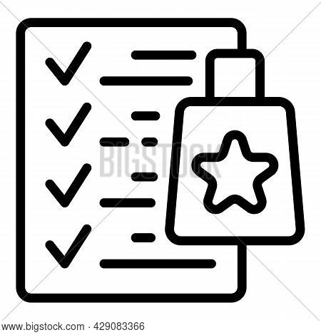 Approved Product Icon Outline Vector. Quality Guarantee. Approve Check
