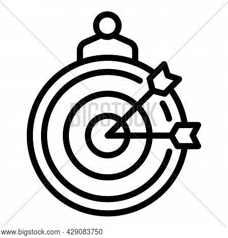 Arch Target Icon Outline Vector. Arrow Archery. Bullseye Training