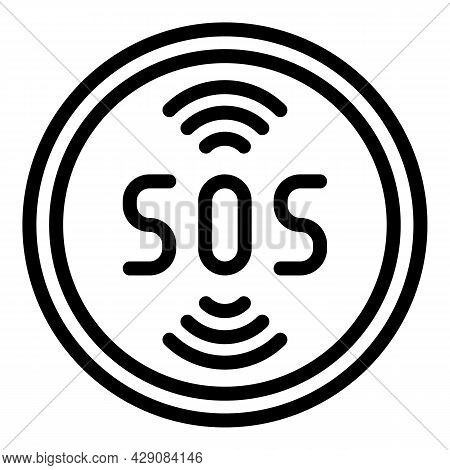 Sos Coin Icon Outline Vector. Finance Donate. Rescue Charity