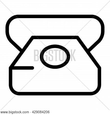 Phone Call Icon Outline Vector. Sos Emergency. Firefighter Safety