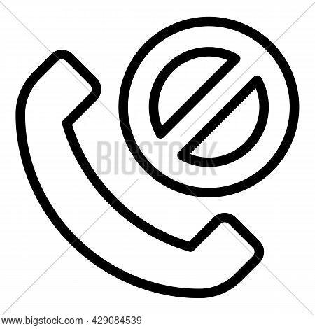 Sos Call Icon Outline Vector. Help Alert. Life Hotline
