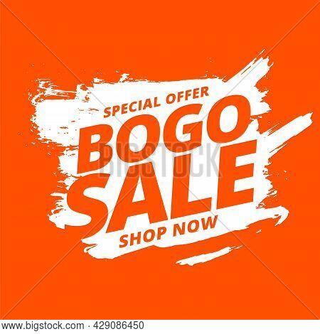 Bogo Buy One Get One Sale Background Design Vector Illustration