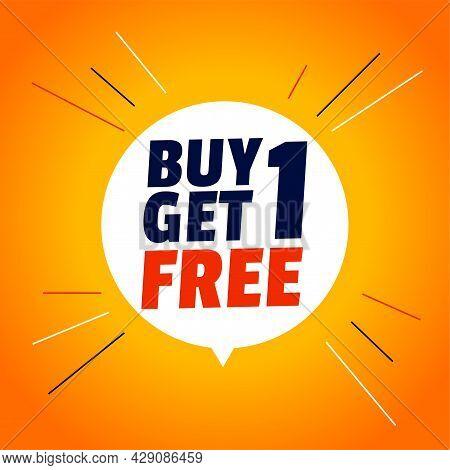 Buy One Get One Free Stylish Sale Banner Design Vector Illustration