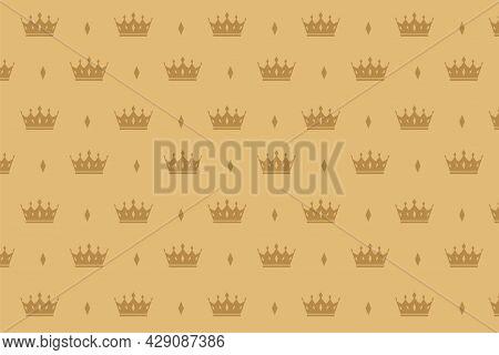 Luxury Crown Pattern Premium Background Design Vector Illustration