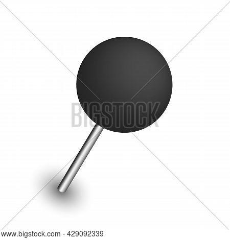 Push Pins. Thumbtacks. Set Of Push Pins In Different Angles.