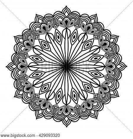 Arabesque Mandala Detailed Fantasy Artwork Design For Invitation Of Luxury Symmetric Pattern Backgro
