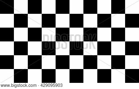 White And Black Checkerboard Finishing Flag, Vector Image