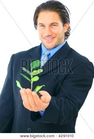 Environmental Friendly Businessman