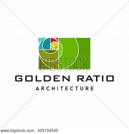 A Modern And Unique Logo About The Golden Ratio. Eps 10, Vector.