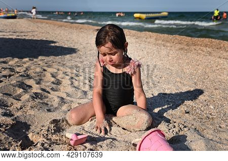 Summer Holidays Concept. Active Lifestyles And Happy Summer Vacations. Summer Vacation. Adorable Tod
