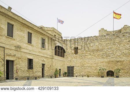 Picturesque Corner Of The Castillo De Santiago In Sanlucar De Barrameda, Cadiz, Andalusia, Spain