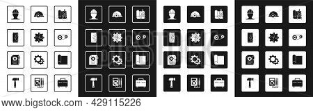 Set Graphing Paper And Compass, Gear, Setting On Smartphone, Worker Safety Helmet, Timing Belt Kit,