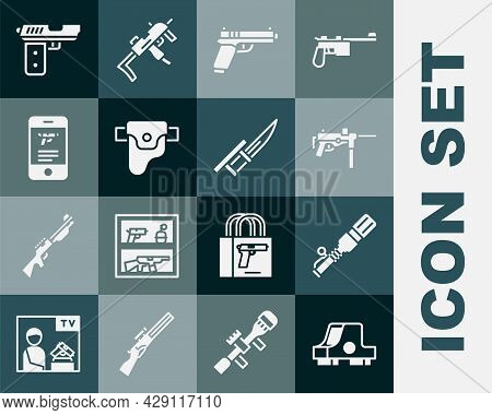 Set Collimator Sight, Anti-tank Hand Grenade, Submachine Gun M3, Pistol, Gun Holster, Shop Weapon Mo