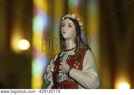 Statue Of Santa Filomena - Filomena De Roma - Philomena Saint Of Catholic Religion