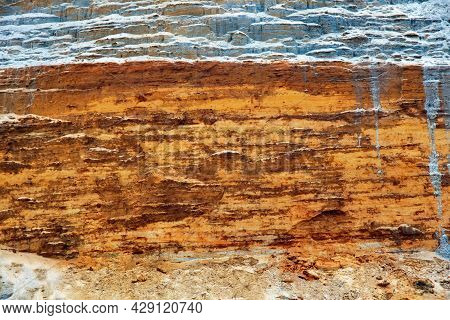 The Texture Of The Clay-sand Bluff Wall.