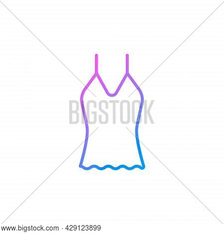 Woman Undershirt Outline Icon. Homewear And Sleepwear. Purple Gradient Symbol. Isolated Vector Stock