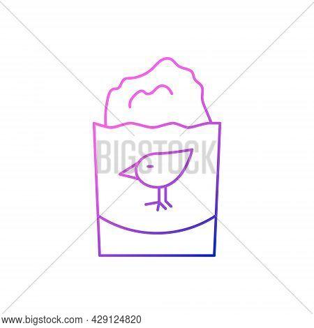 Chicken Cutlet Outline Icon. Taiwanese Fried Street Food. Oriental Crispy Breading Meat. Purple Grad