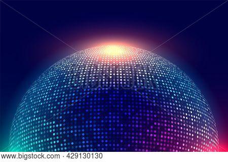 Shiny Disco Ball Music Background Design Vector Illustration