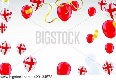 Georgia Independence Day Poster. Patriotic Holiday.georgia Balloons