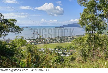 View From Lookout ,of Aboriginal Community Of The Coastal Town Of Yarrabah Cairns On Cape Grafton