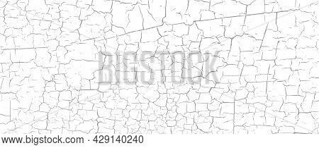 Craquelure Grunge Background. Cracked Paint Structure. Ceramic Tile Pattern. Exfoliate Surface. Fine