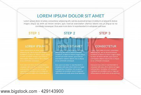Infographic Template With 3 Elements For Your Text, Vector Eps10 Illustration