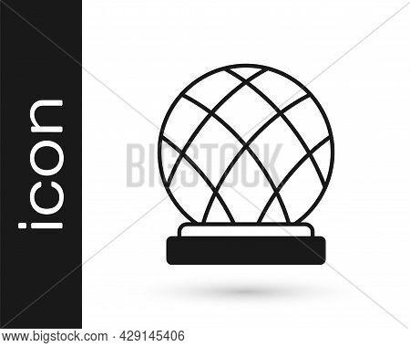 Black Montreal Biosphere Icon Isolated On White Background. Vector