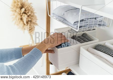 Organized Cabinet Home. High Quality Beautiful Photo Concept