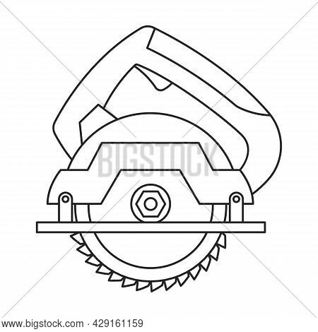 Saw Of Circular Vector Icon.outline Vector Icon Isolated On White Background Saw Of Circular.