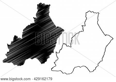 Province Of Almeria (kingdom Of Spain, Autonomous Community Of Andalusia) Map Vector Illustration, S