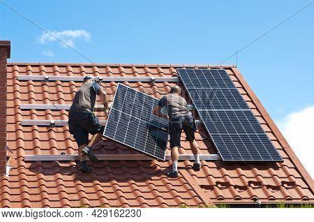 Installing Solar Panels On House Roof