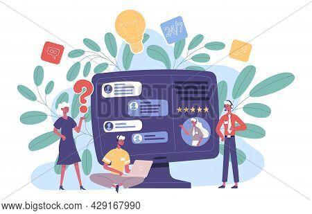 Online Customer Technical Hotline Support Service. Customer Online Support Advice Agents, Network Te