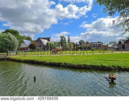 The village Ternaard in Friesland on a beautiful summer day in the Netherlands