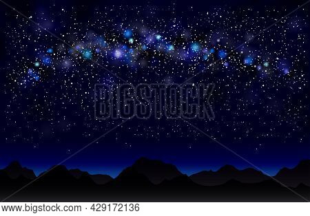 Milky Way In The Mountains.