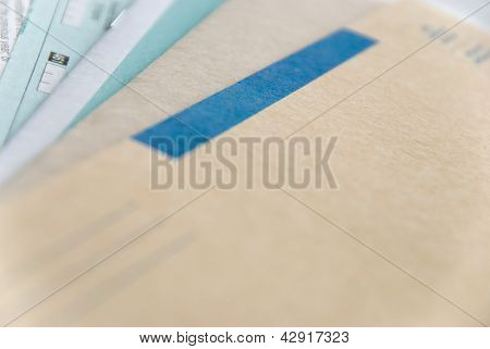 forms and envelope