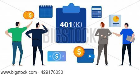 401k Plan Pension Retirement Saving Account Financial Investment Management