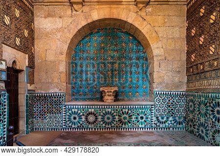Cordoba, Spain - November 03, 2019: Inside The Mudejar Capilla San Bartolome Chapel In Cordoba, Anda