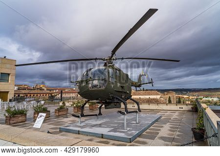 Toledo, Spain - Dec 01, 2019: Military Exhibition At Alcazar Of Toledo, A Stone Fortification Locate