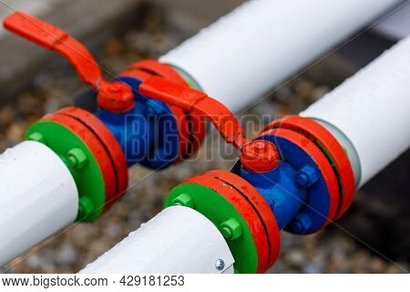 Industrial Background. Gasification And Construction Of The Main Gas Pipeline. New Shut-off Valves P